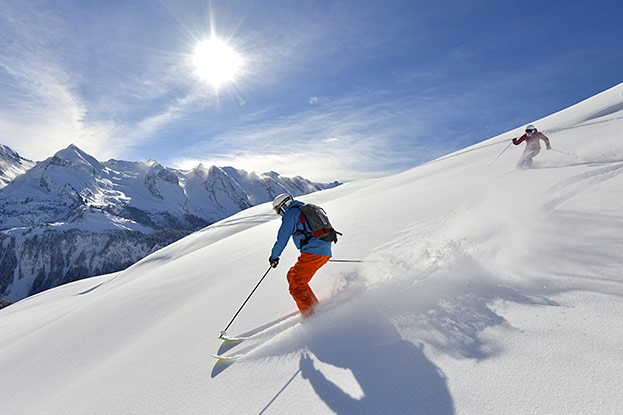 Le Grand-Bornand Freeride Bergkette Aravis