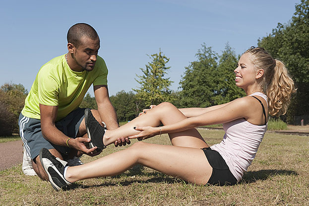 Sportverletzungen im Park