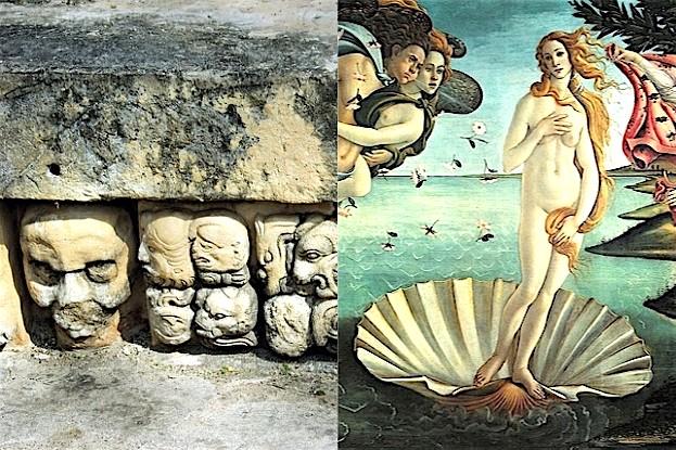 Botticellis berühmte Muschel und Maya-Ausgrabungen in Mexiko