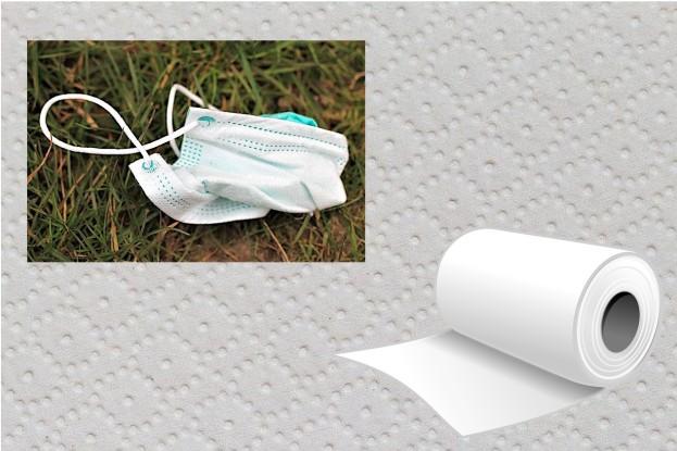 Schutzmasken kann man auch aus Küchentüchern oder sonstigem Vlies wie Staubsaugerbeuteln herstellen