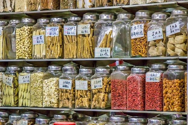 Chinesische Apotheke in Hongkong