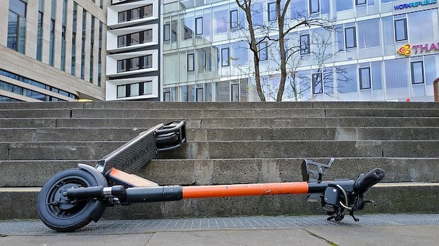 Unfall mit E-Scooter