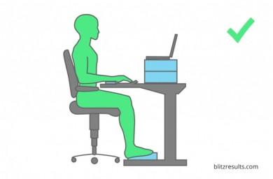 Richtige Sitzhaltung - ©https://www.blitzresults.com/de/infografiken/