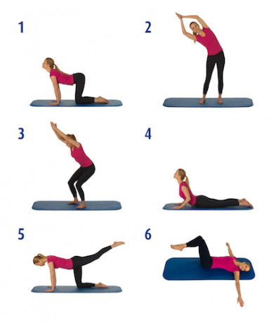 Sechs Rückenübungen im Überblick