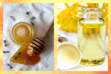 Honig, Öl und Meersalz sind natürliche Kosmetikmittel - ©Pixabay