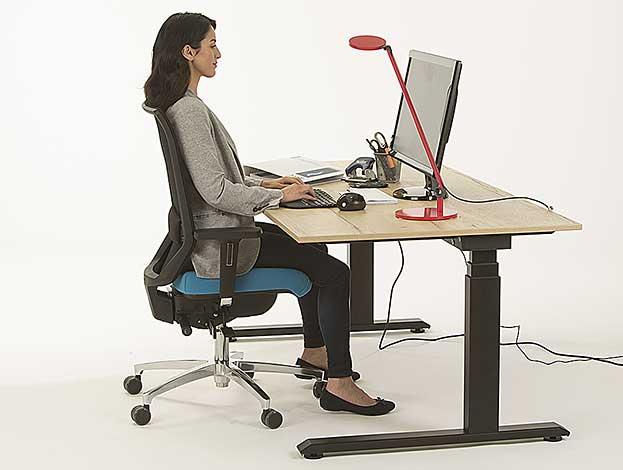 Sitzen ohne Rückenschmerzen