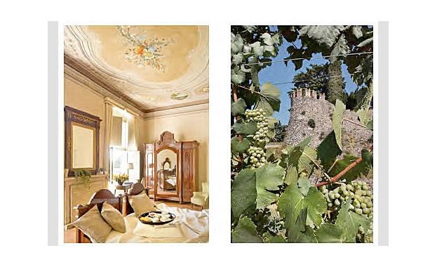 Geschmackvolle Villen zum Übernachten... ...Burgen, die heute v.a. dem Wein Schutz bieten