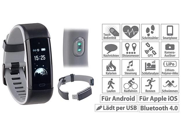 newgen medicals Premium-Fitness-Armband FBT-110.HR