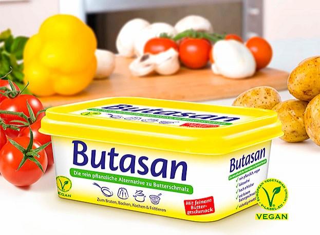 Butasan ist die rein pflanzliche Alternative zu klassischem Butterschmalz