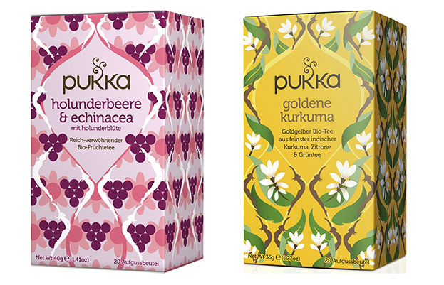 Bio Tee-Set's Holunderbeere & Echinacea und goldene Kurkuma