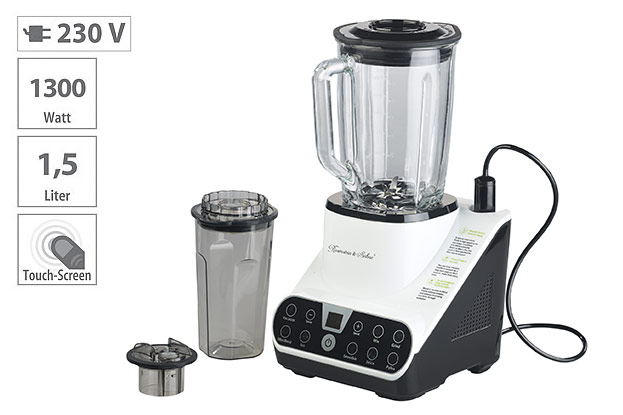 PEARL Standmixer mit Vakuumier-Funktion & LED-Touch-Display-©PEARL