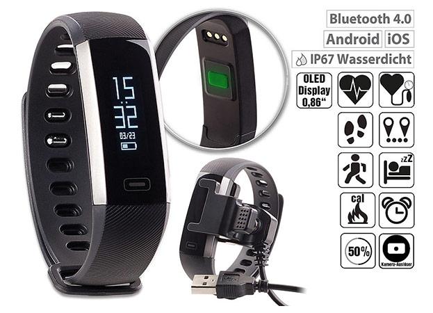 newgen medicals Fitness-Armband IP67-©PEARL