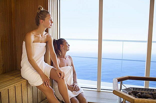 Sauna mit Ausblick: