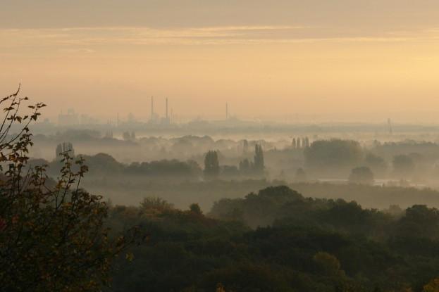 Smog über Stadt