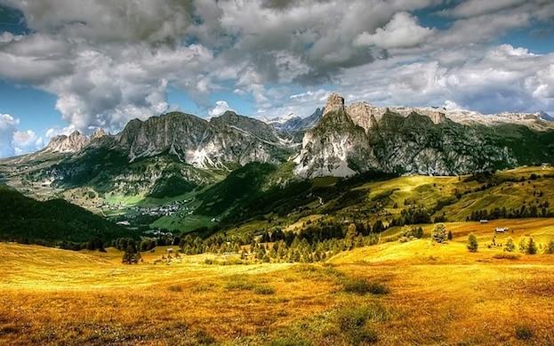 Val Badia in den Dolomiten