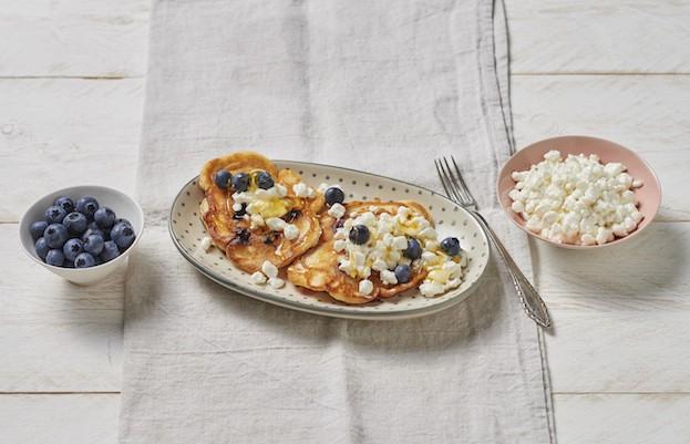 Pancakes mit Blaubeeren und Gervais Hüttenkäse®