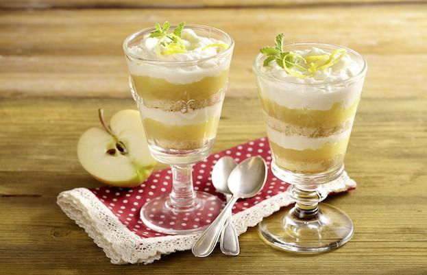 Biskuit-Apfeldessert mit Gervais Hüttenkäse®