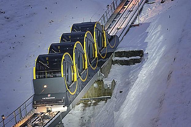 Die steilste und modernste Standseilbahn der Welt