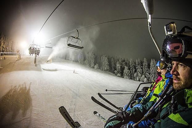 Flutlicht im Skiliftkarussell Winterberg
