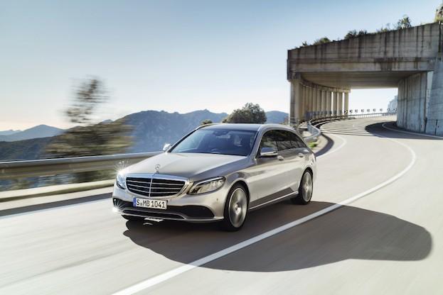 Mercedes-Benz C-Klasse T-Modell Exclusive, Exterieur: mojavesilber, Interieur: Leder magma/espresso