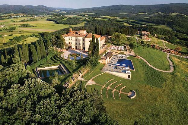 Ein Schloss in der Toskana