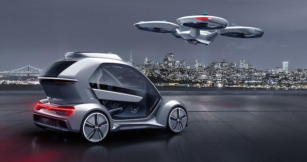 Audi, Italdesign und Airbus kombinieren selbstfahrendes Auto und Passagierdrohne