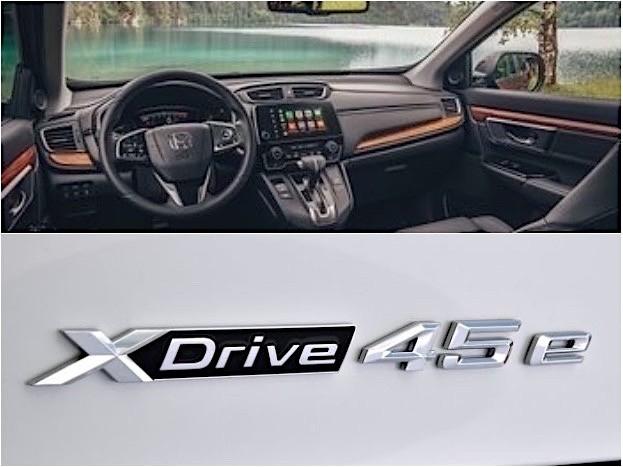 Innenraum des neuen CR-V und BMW X5 xDrive45e iPerformance