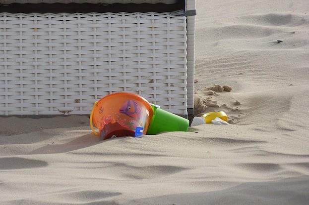 Strandspielzeug wird besonders gerne vergessen
