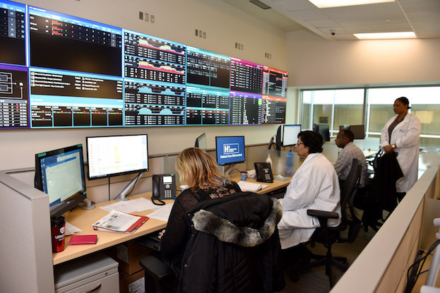 Command Centre im Humber River Medical Center, Toronto (Kanada)