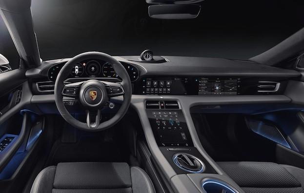 Digital, klar, nachhaltig: das Interieur des neuen Porsche Taycan