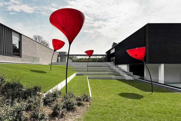 Der besonders schön gestalte Garten im Spa Retreat La Forêt