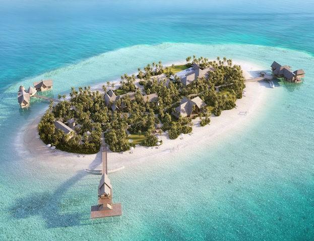 Drei Villen befinden sich auf der Privatinsel des Resorts, die ausschließlich per Boot zugänglich ist