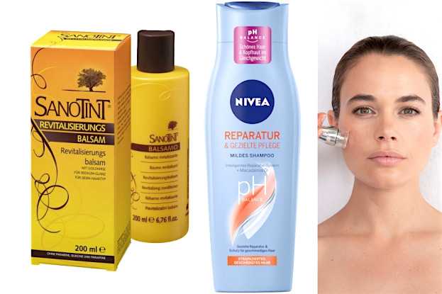 Sanotint-Haar-Balsam, Nivea-Pflege-Shampoo, Thalgo Pace Palp