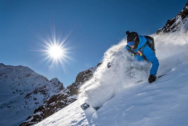 Die neue Falginjochbahn auf dem Gletscher eröffnet Freeridern einen weiteren Einstieg für Routen