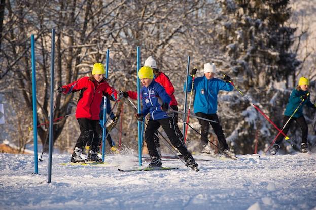 Im Fun & Snow Park trainieren Kinder und Jugendliche ihre Geschicklichkeit