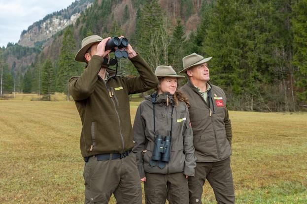 Die drei Naturpark-Ranger haben die Natur im Visier