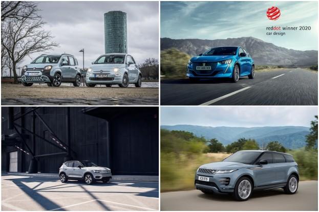 Fiat 500 Hybrid und Fiat Panda Hybrid, Peugeot 208, Range Rover Evoque P250, Volvo XC40 Recharge P8 AWD