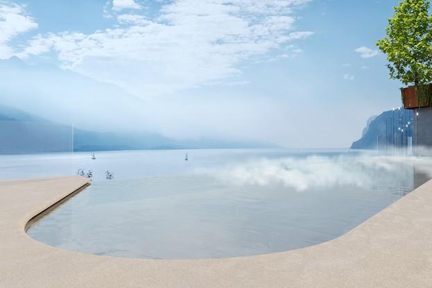 Infinity Pool im neuen ELEA am Gardasee