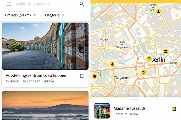 "Smartphone-App ""ADAC Trips"""