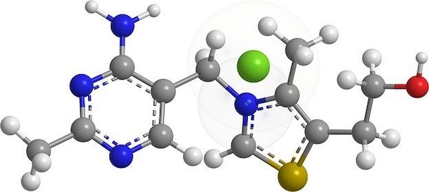 Chemische Struktur von Thiaminen