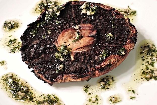 Portobello-PIlz mit Knoblauch