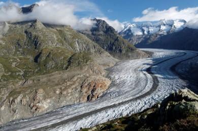 Aletschgletscher - er wird immer kleiner