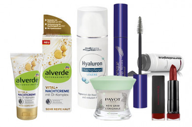 v.l.n.r. alverde, medipharma cosmetics, ARABESQUE, dermalogica, Max Factor, PAYOT