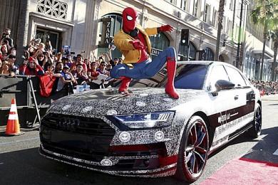 Premierenauto bei Spiderman