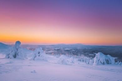 Das traumhafte Schneepanorama der Region Levi-Ylläs