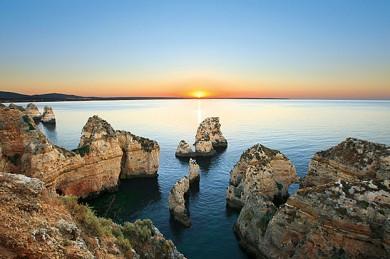Algarve - Ponta da Piedade bei Sonnenuntergang