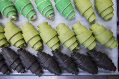 Croissant neu: von grasgrün bis tintenschwarz