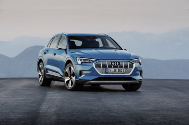 Audi e-tron in  Antiguablau