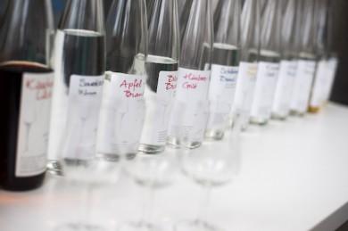 Schnäpse aus der Forschungsbrennerei - ©Universität Hohenheim / Oskar Eyb