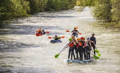 Die Enns in fünf Etappen - paddelnd per Kajak, flusstauglichen aufblasbaren Kanus oder SUP (Stand up paddeling)  - ©Michael E. Tritscher